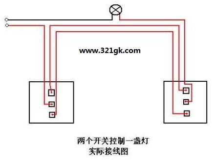 如何安装双控开关面板 单开双控开关内部机构和接线图解